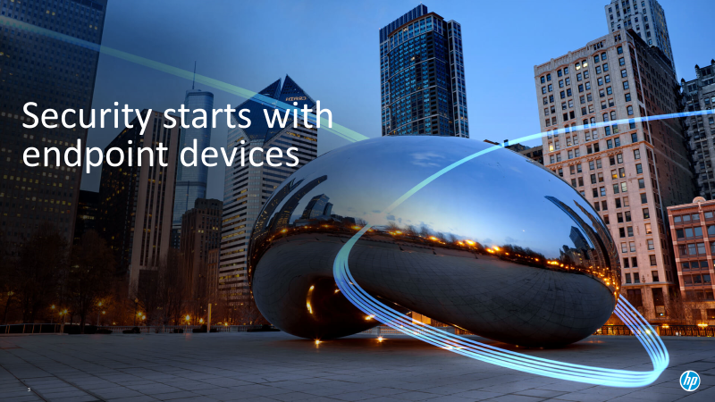 Picture of CloudGate in Chicago, security starts with endpoint devices