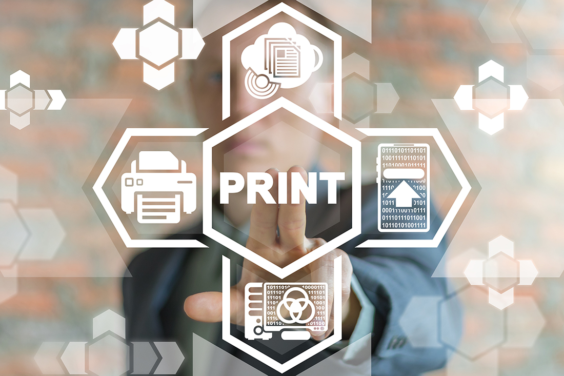 Print Printing Business Technology. General Networking Printer O
